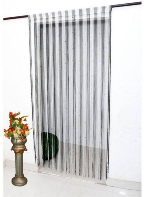 check MRP of striped curtains black and white Housefurnishing