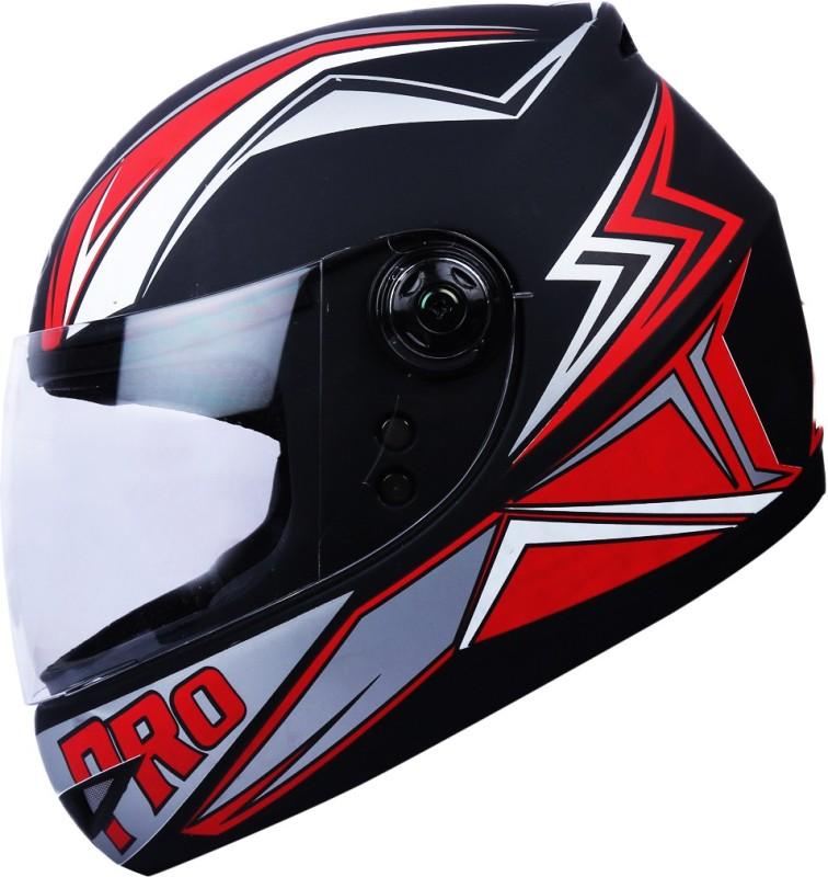 AutoVHPR 02 Pro Black with orange Full Face ISI Certified Strong Helmet Motorbike Helmet(Black, Orange)