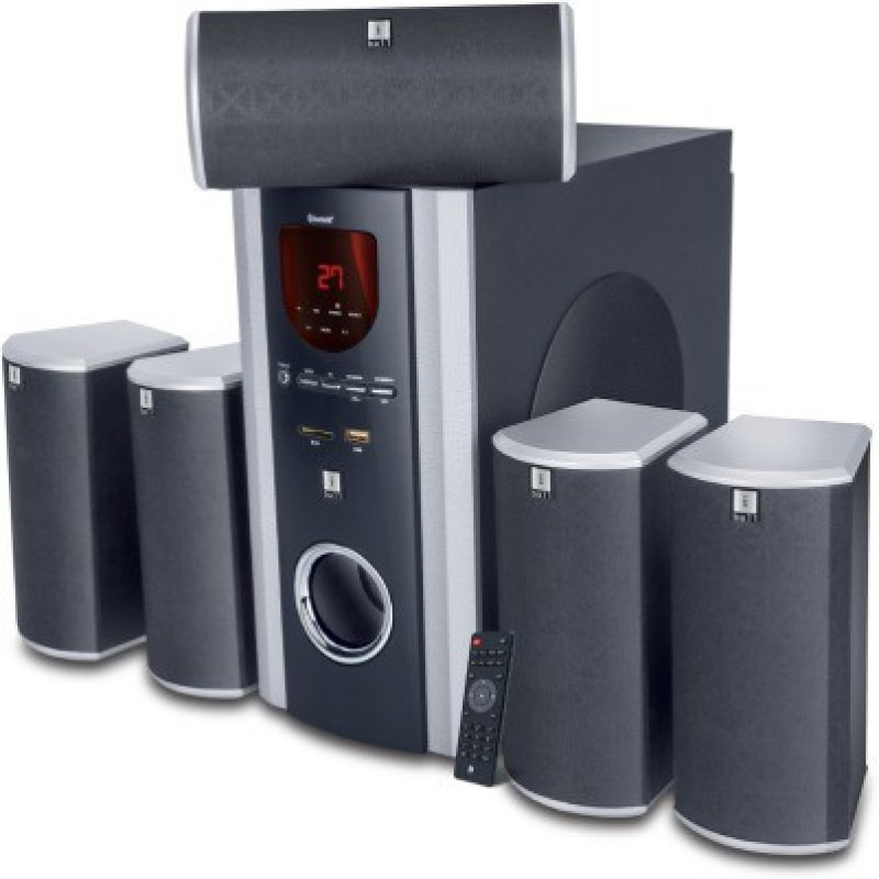 Iball Booster 5.1 USB/SD/BT Multimedia Speakers (Black, 5.1 Channel) 5.1 Home Cinema(Audio)