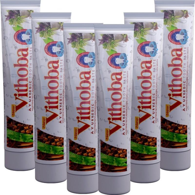 Vithoba Ayurvedic Premium Toothpaste(240 g, Pack of 6)