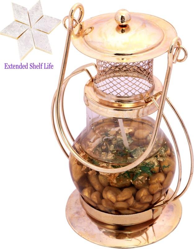 Ghasitaram Gifts Diwali Candles Golden Lantern Glass Candle Stand with 400 gms kaju Katli Combo(2)