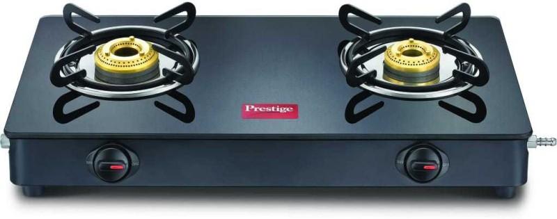 Prestige Magic GTMC Glass, Steel Manual Gas Stove(2 Burners)