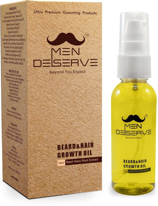 Men Deserve Beard & Hair Growth Hair Oil(50 ml)