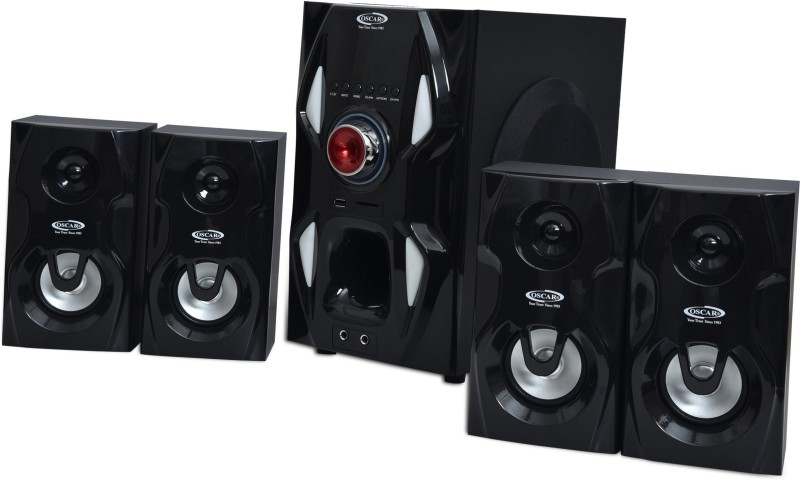 Oscar OSC4165BT 4.1 Channel 25w Digital Display With Bluetooth,aux Connectivity Speaker System Bluetooth Home Theatre(Black, 4.1 Channel)