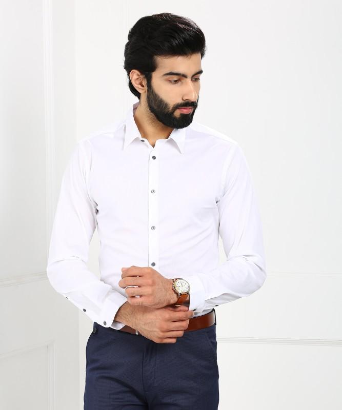 Arrow New York Men's Solid Formal White Shirt