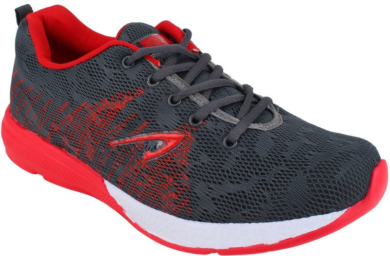 Glizt Running Shoes For Men(Grey, Red)