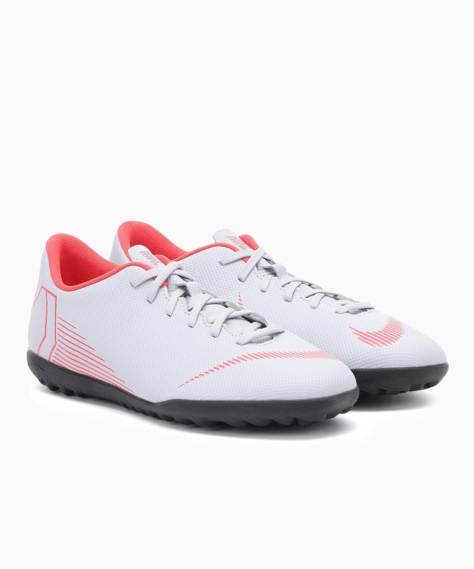 Nike VAPOR 12 CLUB Football Shoes For Men(Grey, Orange)
