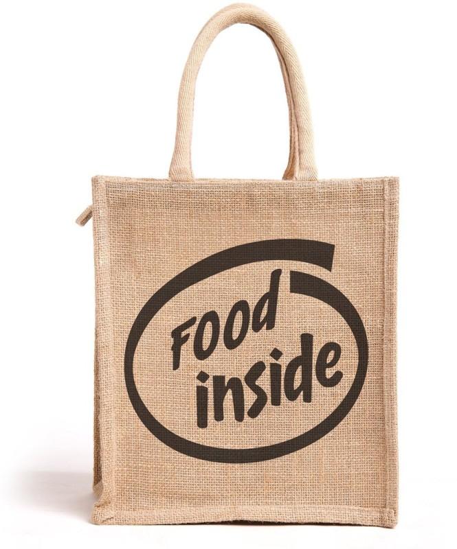 H&B All Purpose Reusable Jute Bag for Men and Women Waterproof Lunch Bag(Beige, 11 L)