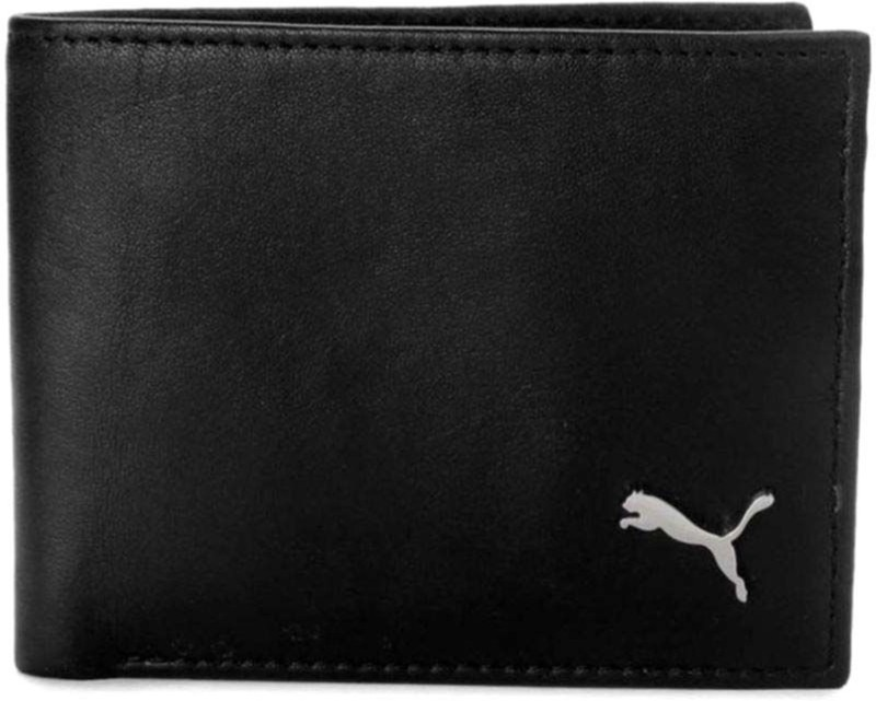 Puma Men Formal Black Genuine Leather Wallet(3 Card Slots)