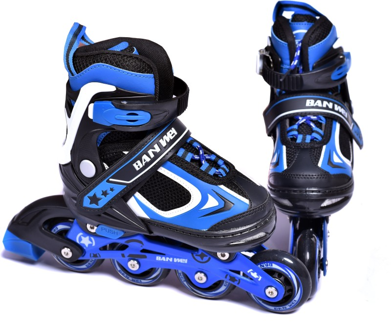 Iris 78 mm Adjustable Banwei In-line Skates - Size 3-6 UK(Blue)