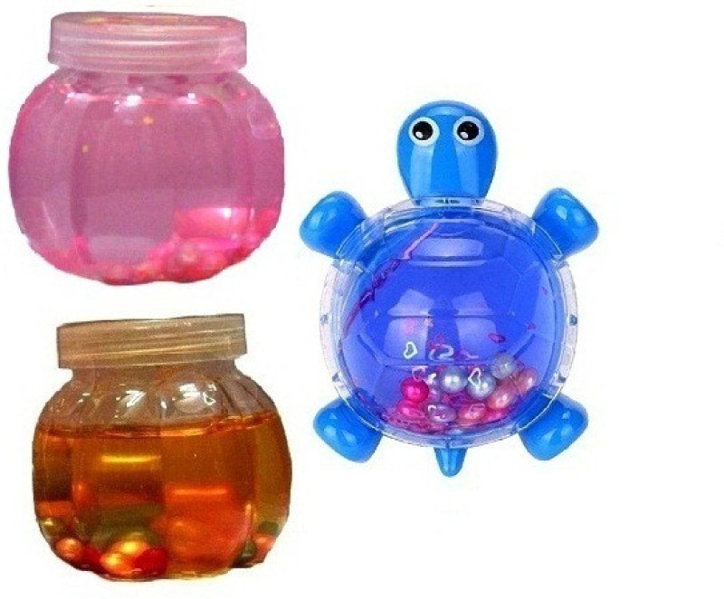 S2KCrafts S2KC-1935 Jelly Jar & Tortoise Clay (Pack of 3) Art Clay(1.5 g)