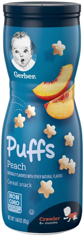 Gerber Peach Puffs Cereal Snack 42g Cereal(42 g, 8+ Months)