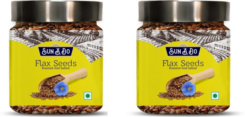 SUN'A'DO Brown Flax Seeds(400 g, Pack of 2)