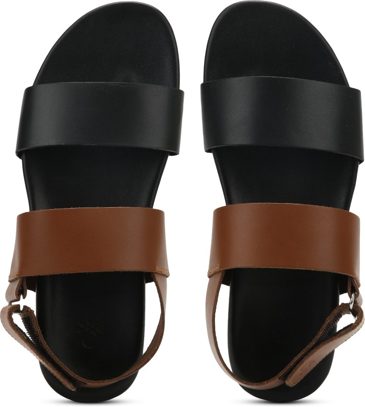 United Colors of Benetton LEATHER Men Black, Brown Flats