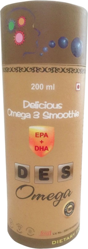 Friska EPA+DHA _Des Omega 3 Junior Kid Syrup Delicious Health & Nutrition Smoothie Drink Stage 2-12 year Age Group Children 200ml Mango Flavored Syrup(200 ml)