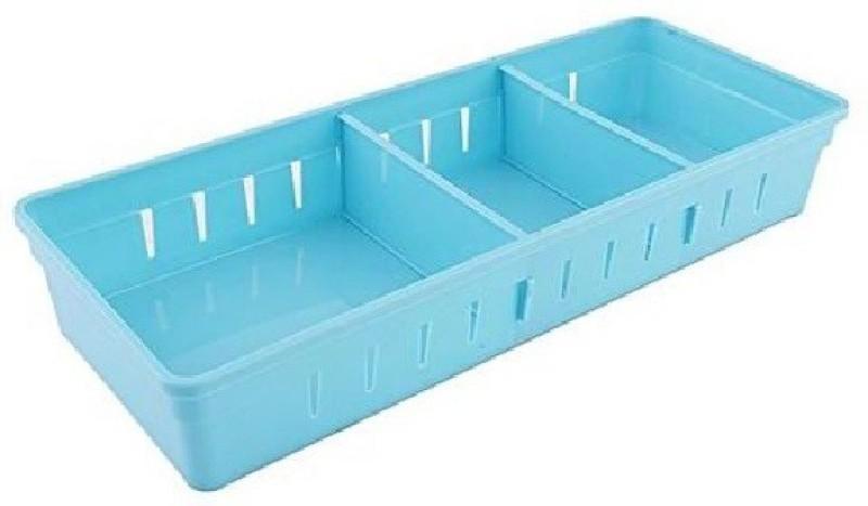 SYGA Big Drawer Organizer with 2 Adjustable Drawer Dividers_Blue Drawer Divider(Plastic)