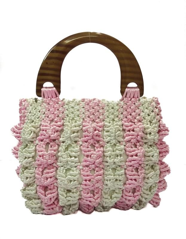 RITA'S Women White, Pink Hand-held Bag