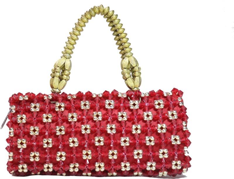 Rita's Women Red, Gold Hand-held Bag