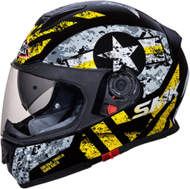 SMK CAPTAIN GL264 Motorbike Helmet(BLACK-YELLOW)