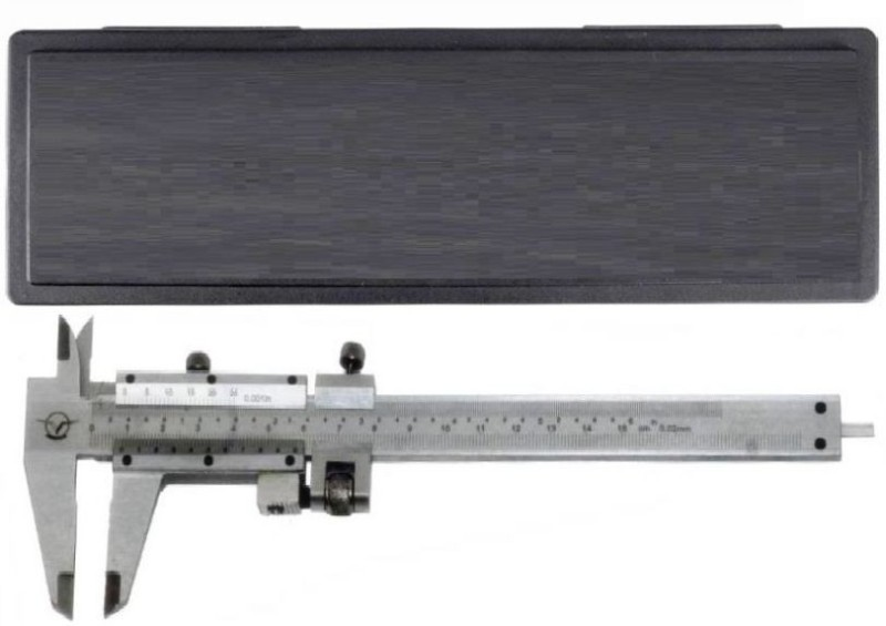 Divinext Aerospace Vernier Caliper 0–150 mm/0–6 inch Aero Space Vernier Caliper with Storage Box Case Hardened Stainless Steel Manual Vernier Caliper Micrometer Electronic Gauge Micrometer Ruler Tool Used for 4 Way Measurement Inside + Outside +