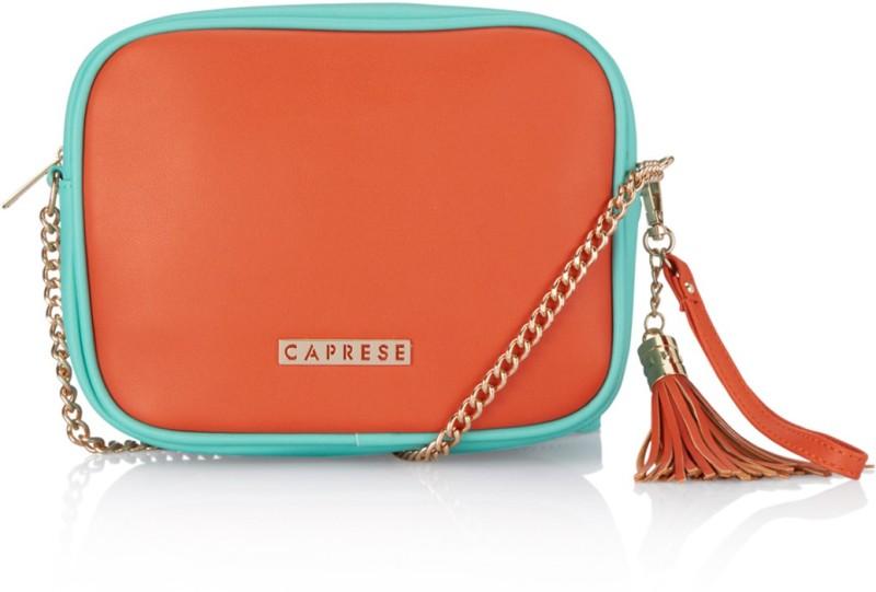 Caprese Blue, Orange Sling Bag