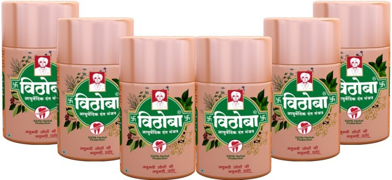 Vithoba Ayurvedic Dant manjan(480 g, Pack of 6)