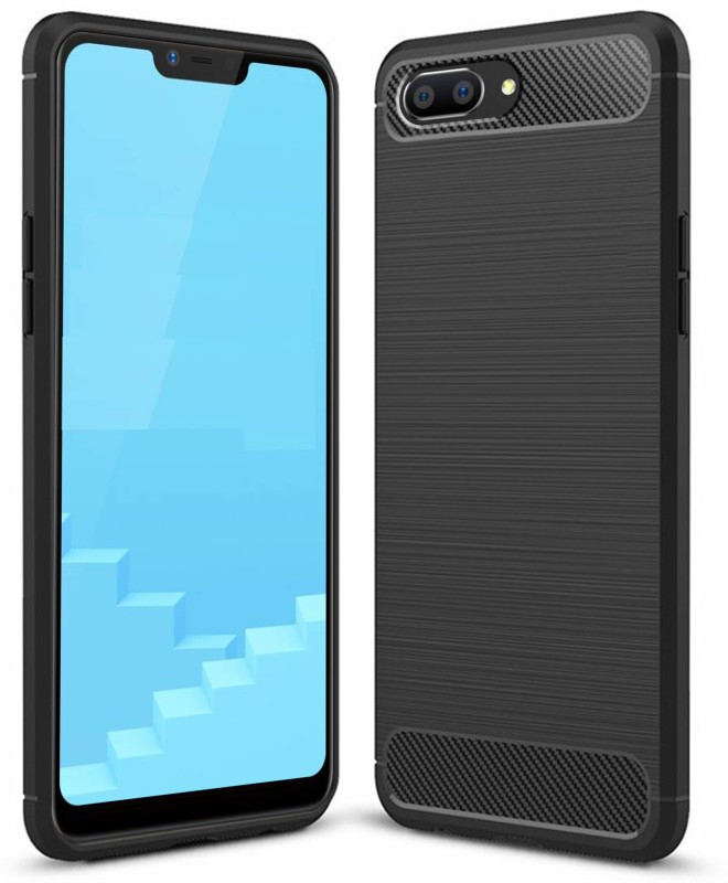 Flipkart SmartBuy Back Cover for Realme C1(Black, Rugged Armor, Rubber)