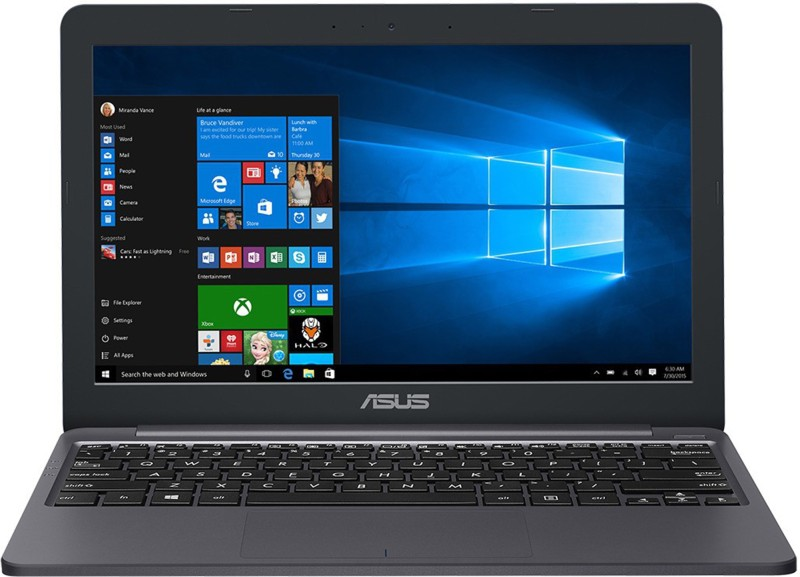 Asus Vivo Celeron Dual Core - (2 GB/32 GB EMMC Storage/Windows 10 Home) E203MA-FD014T Thin and Light Laptop(11.6 inch, Star Grey, 0.99 kg)