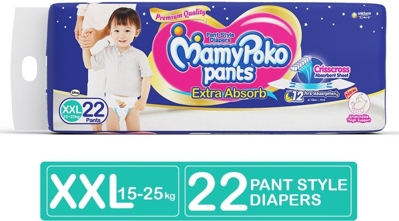 MamyPoko Pants Extra Absorb Diapers - XXL(22 Pieces)