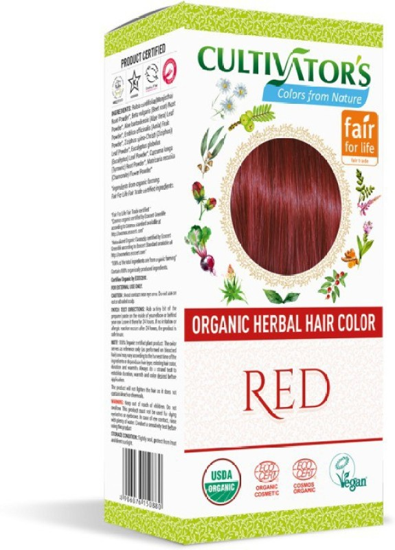 Cultivator's Organic Herbal  Hair Color(Red)
