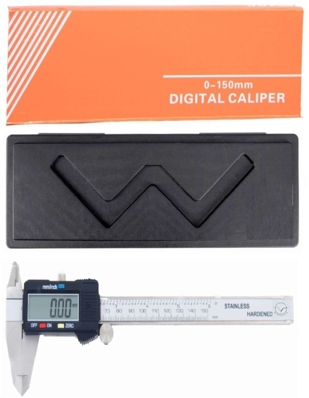 Divinext Aerospace Digimatic Caliper 0–150 mm/0–6 inch Metric/Imperial Dual Reading Electronic Aero Space Digital Vernier Caliper with Storage Box Case + Extra Spare Battery + Large LCD Display + IP54 Water Resistant Hardened Stainless Steel Ver