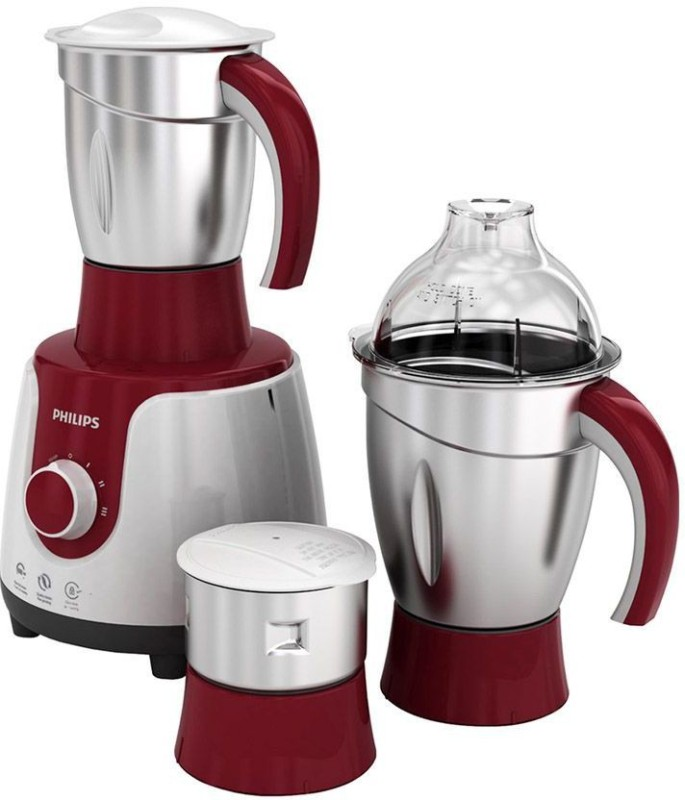 Philips HL7720/00 750 W Mixer Grinder(Red, White, 3 Jars)