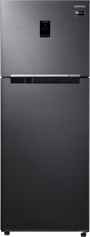 Samsung 415 L Frost Free Double Door 3 Star Refrigerator(Black Inox, RT42M5538BS/TL)