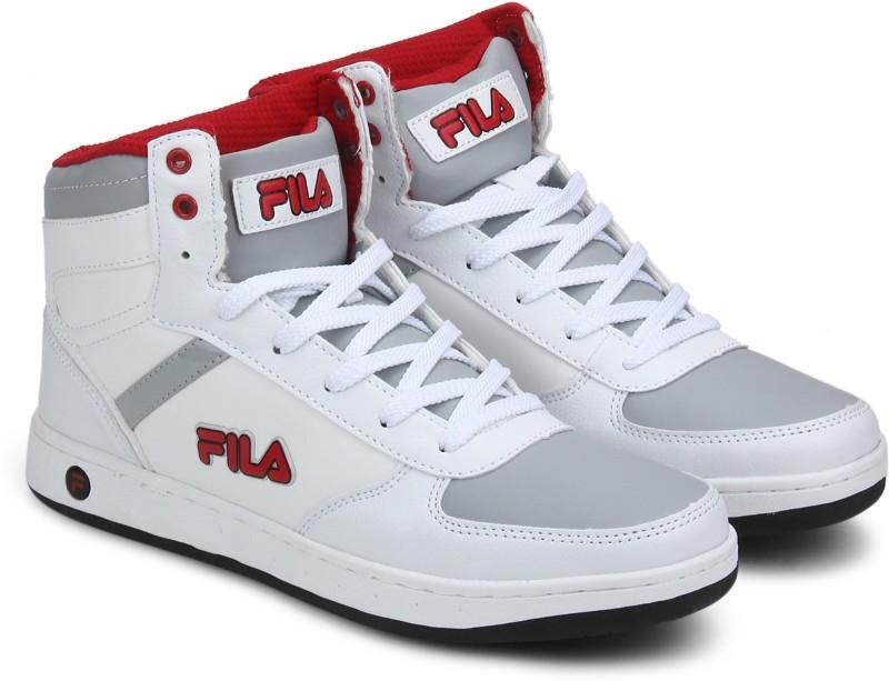 Fila High Tops For Men(Red, White)- Buy