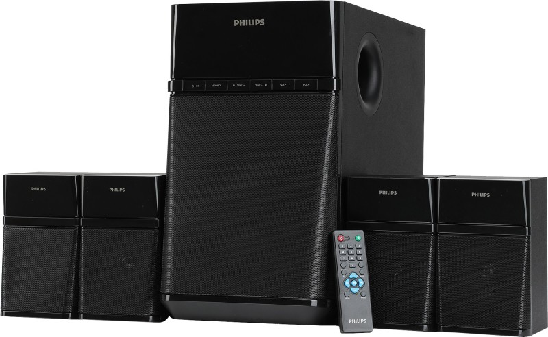 Philips SPA8180B/94 80 W Bluetooth Home Audio Speaker(Black, 4.1 Channel)