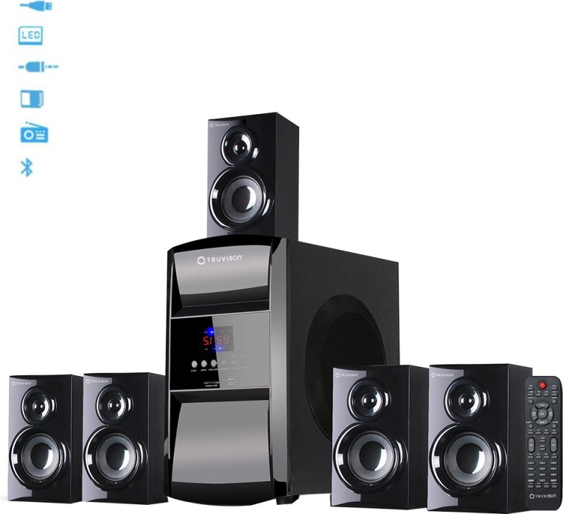 Truvison SE- 6045 BT Bluetooth Home Theatre(Black, 5.1 Channel)