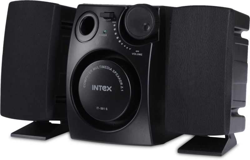 Intex IT 881S 16 W Laptop/Desktop Speaker(Black, 2.1 Channel)