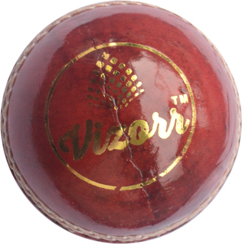 Vizorr Pack of 1 Four Piece Leather Ball Cricket Leather Ball(Pack of 1, Red)
