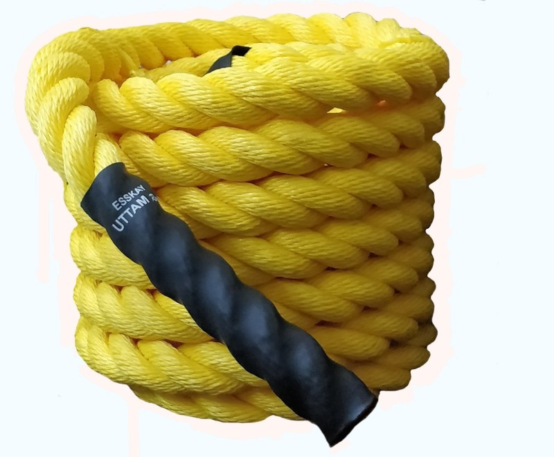 Esskay Uttam BR60 Battle Rope(Length: 60 ft, Weight: 12 kg, Thickness: 1.5 inch)