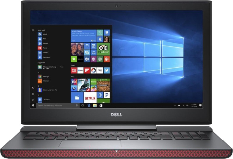 Dell Inspiron 15 7000 Core i7 7th Gen - (8 GB/1 TB HDD/128 GB SSD/Windows 10 Home/4 GB Graphics) 7567 Gaming Laptop(15.6 inch, Matt Black, 2.62 kg, With MS Office)