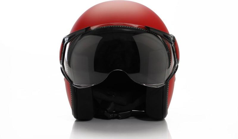Vespa Colour Helmet Red Motorbike Helmet(Red)