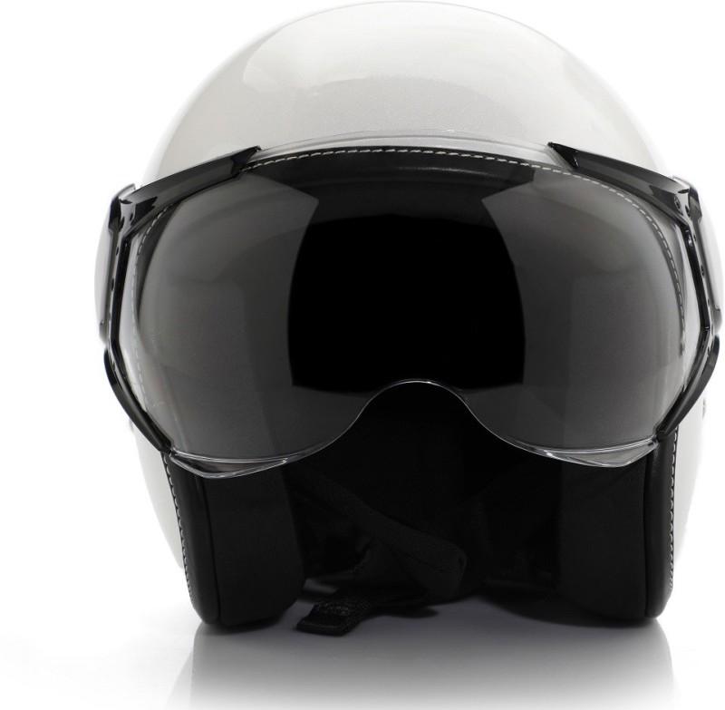 Vespa Colour Helmet White Motorbike Helmet(White)