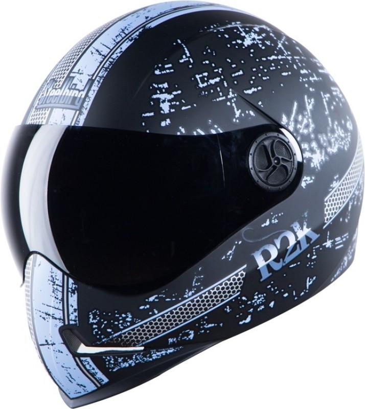 Steelbird SBH-1 Adonis R2K Matt Motorbike Helmet(Matt Black Light Blue Smoke Visor)