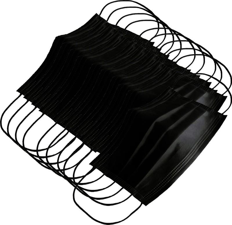 AutoKraftZ Disposable Anti Pollution Mask Black DPMB ST10_009 Mask