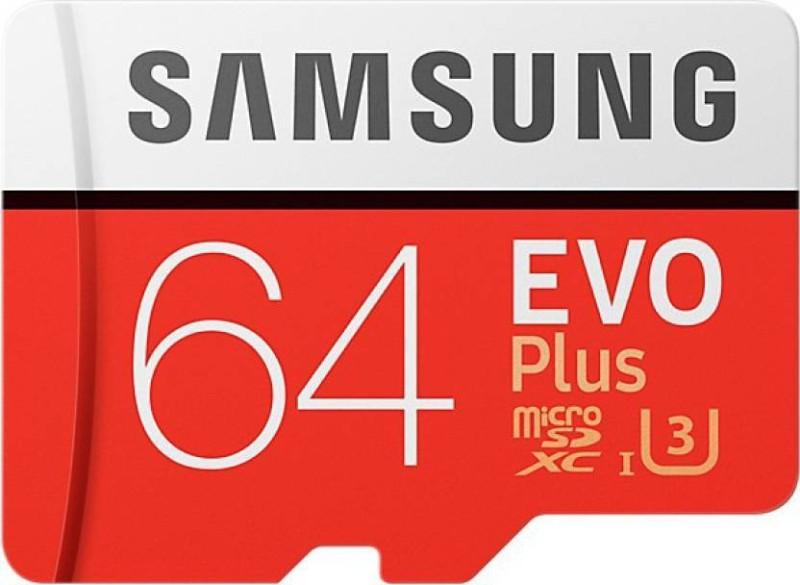 Samsung Evo Plus 64 GB MicroSDHC Class 10 100 Memory Card(With Adapter)