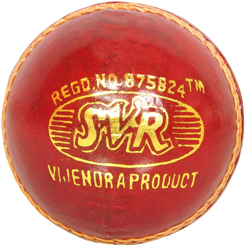SVR For Adults- Leather Cricket Leather Ball(Pack of 6, Red)