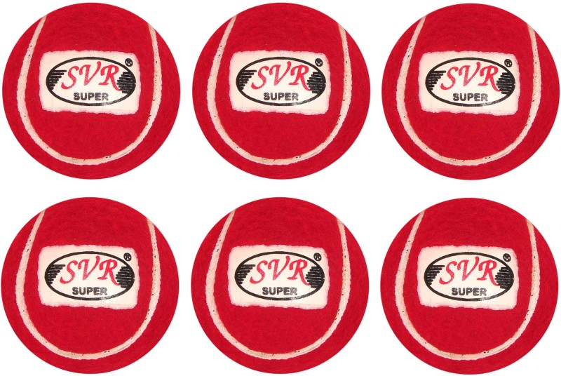 SVR For Adults- Selected Rubberized Heavy Quality Cricket Tennis Ball(Pack of 6, Red)