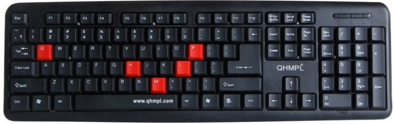 Quantum 7403d Wired USB Multi-device Keyboard(Multicolor)