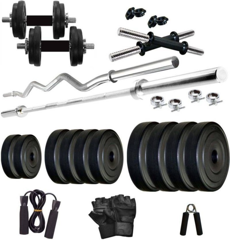 Rock Fit 30 kg PVC weight with rods home gym combo Home Gym Combo(20 - 40 kg)