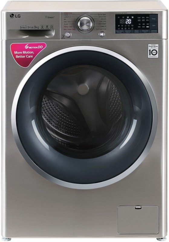 LG 9 kg Fully Automatic Front Load with In-built Heater Grey(FHT1409SWS)